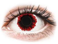 Barevné kontaktní čočky MaxVue Vision - ColourVUE Crazy Lens - Blaze - nedioptrické