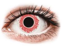 Barevné kontaktní čočky - CRAZY LENS - Red Wedding - nedioptrické jednodenní