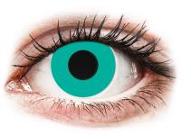 Crazy barevné kontaktní čočky - CRAZY LENS - Solid Turquoise - nedioptrické jednodenní