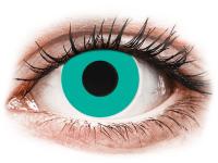 Barevné kontaktní čočky - CRAZY LENS - Solid Turquoise - nedioptrické jednodenní