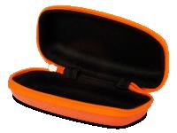 Pouzdro se zipem na dětské brýle oranžové