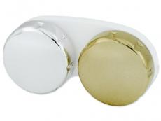 Pouzdro na čočky zrcadlové - zlaté