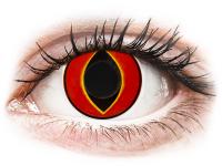 Crazy barevné kontaktní čočky - ColourVUE Crazy Lens - Mad Frog - nedioptrické