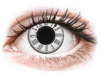 Barevné kontaktní čočky - CRAZY LENS - Clock - nedioptrické jednodenní