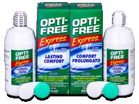 Kontaktní čočky levně - Roztok OPTI-FREE Express 2x355ml