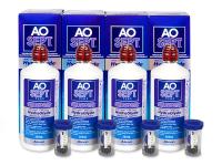 Roztoky na kontaktní čočky - Roztok AO SEPT PLUS HydraGlyde 4 x 360ml